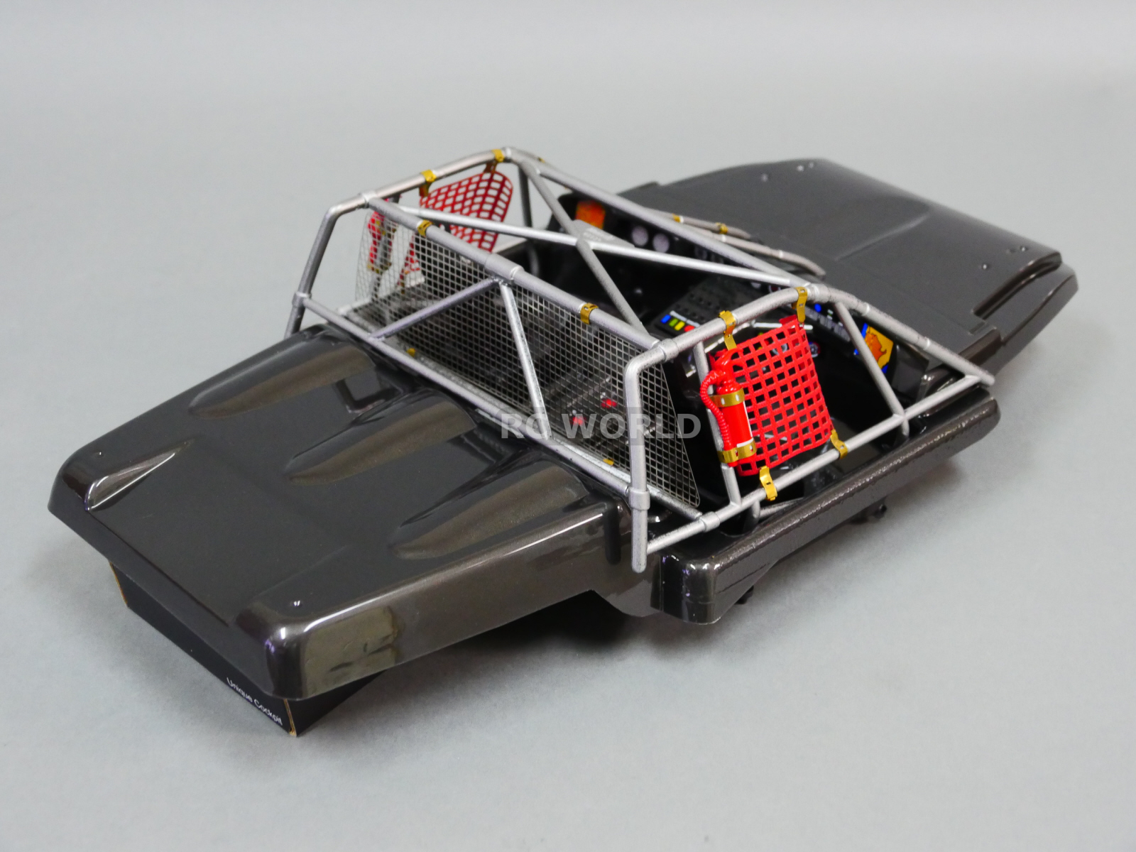 1 10 scale rc truck short course body interior cockpit w roll cage finished ebay. Black Bedroom Furniture Sets. Home Design Ideas
