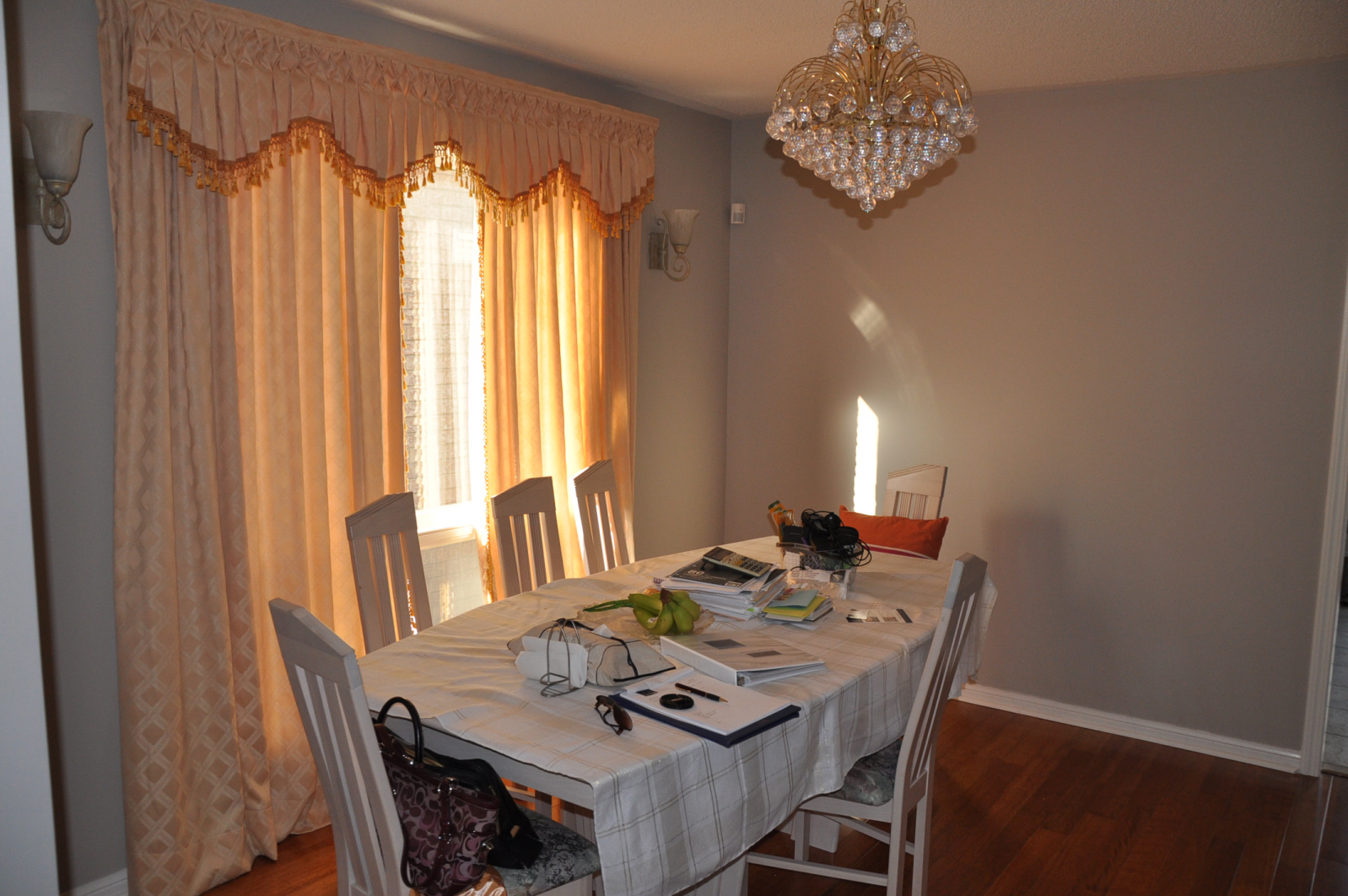 Occupied Home Staging-Dining Room Before