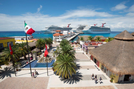 Carnival Corporation Adds Third Berth to Cozumel Pier
